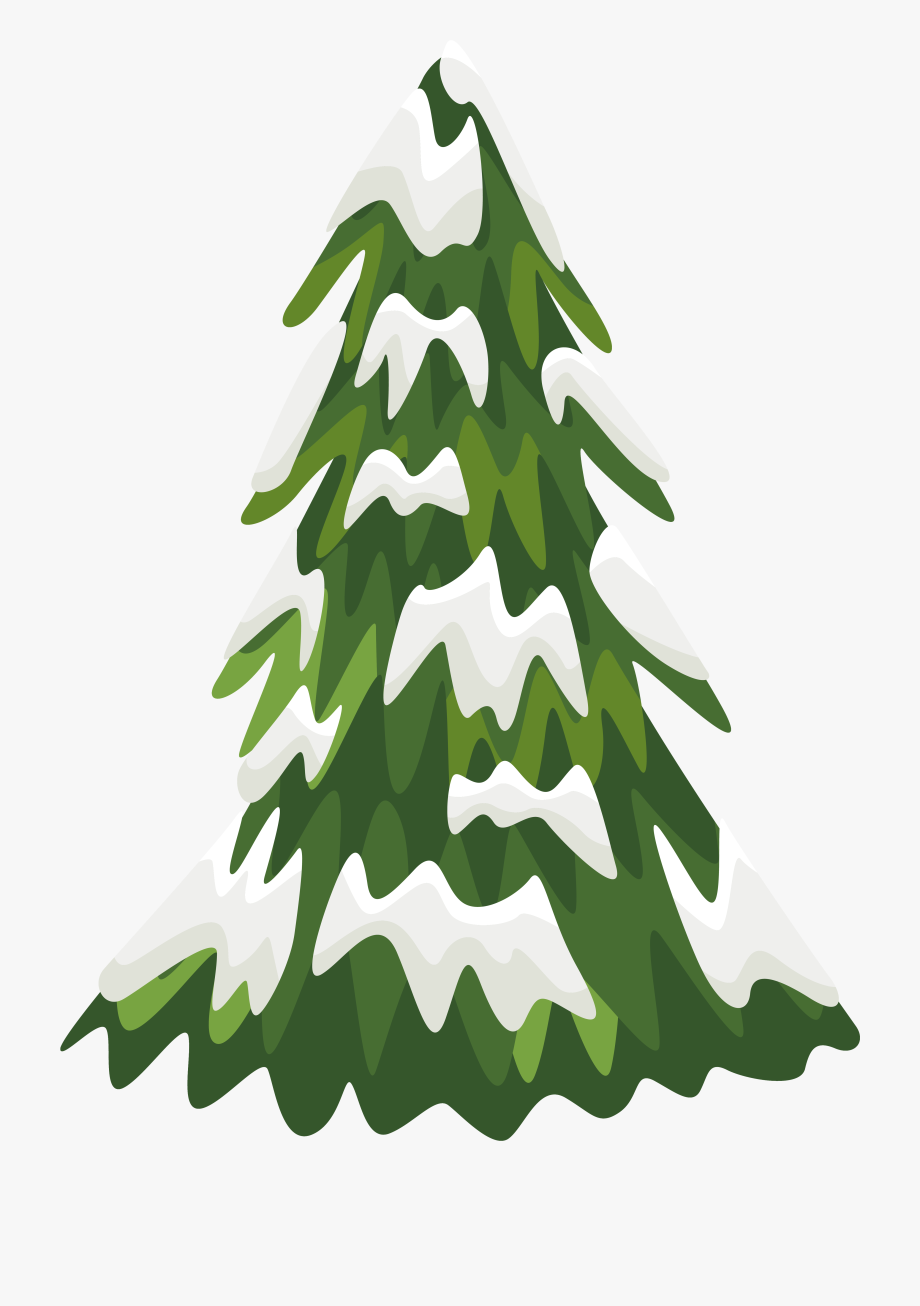 28 Collection Of Snowy Christmas Tree Clipart - Snowy Pine Trees ... clip library download