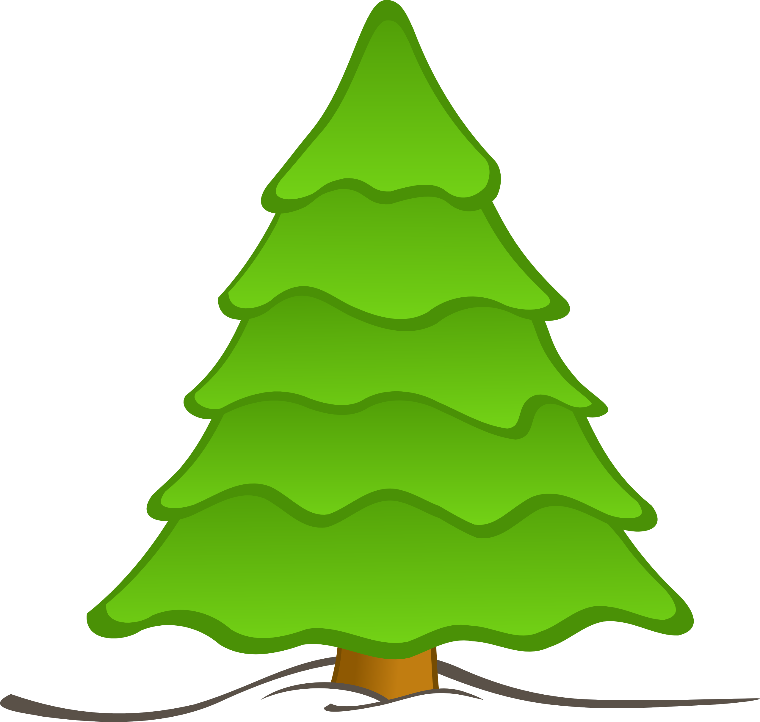 Evergreen Tree Clipart | Free download best Evergreen Tree Clipart ... image royalty free download