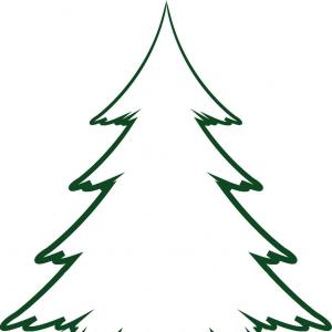 Abstract pine tree clipart