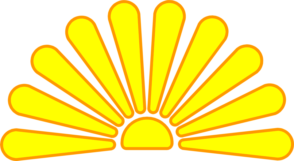 Rising sun clipart graphic stock Sun | Free Stock Photo | Illustration of a rising sun | # 3003 graphic stock