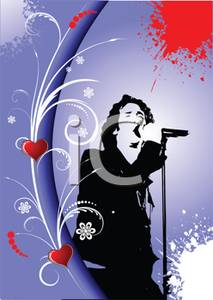 Abstract singer illustration clipart image download A Colorful Abstract of a Male Performer Singing - Royalty Free ... image download