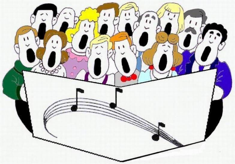 Church sing clipart
