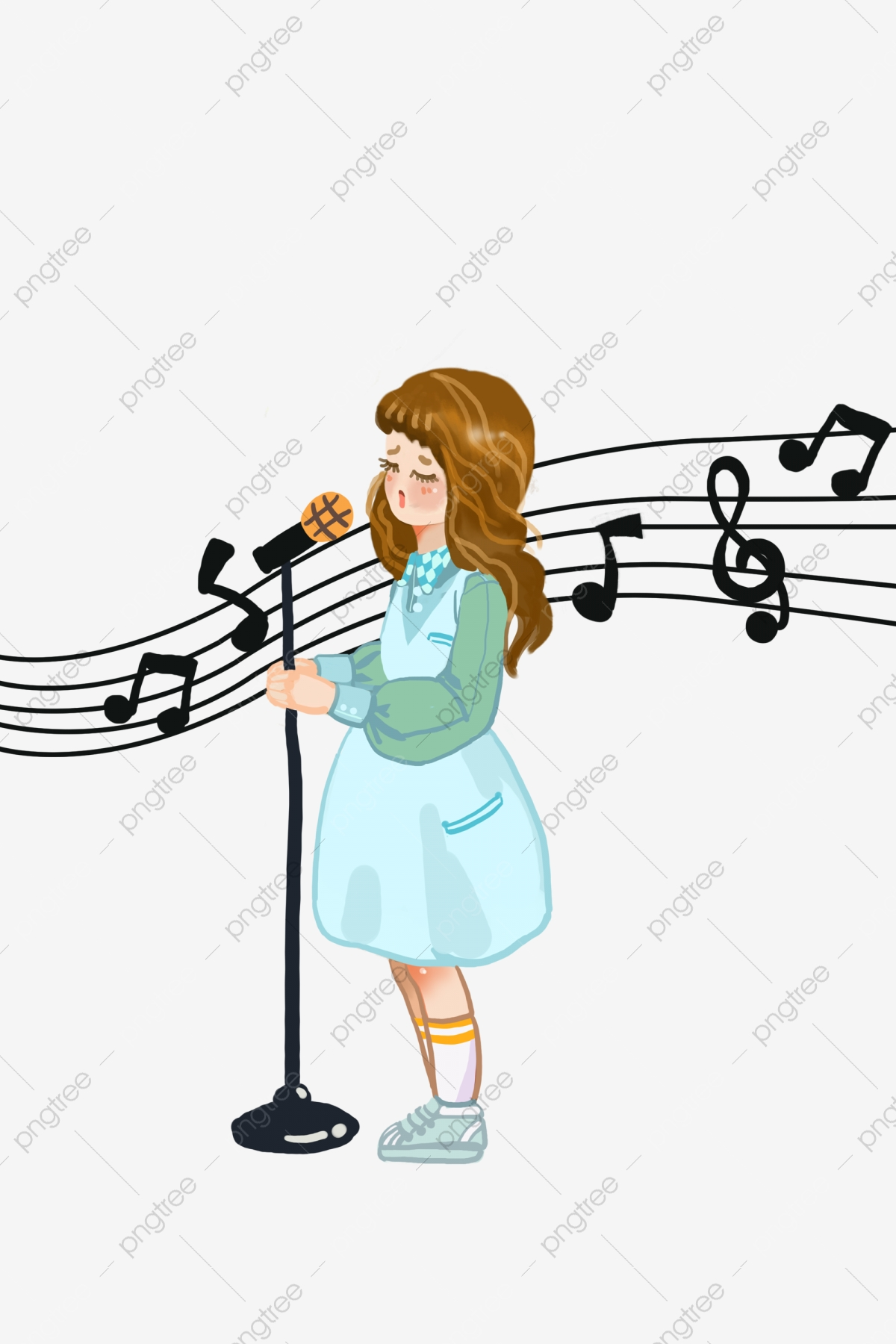 Abstract singer illustration clipart clip art black and white library A Little Girl Singing Cartoons, Cartoon Kid, Woman, Singer PNG ... clip art black and white library