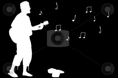 Abstract singer illustration clipart banner download Guitar guy singing stock vector banner download