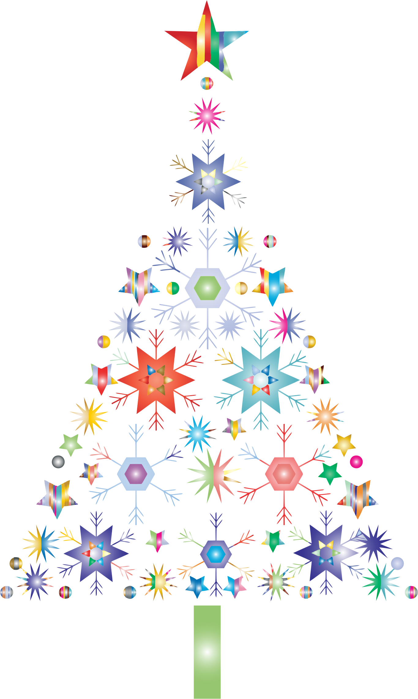 Clipart snowflake no background clip royalty free Clipart - Abstract Snowflake Christmas Tree By Karen Arnold ... clip royalty free