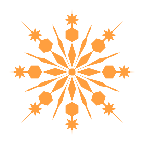 Snowflake clipart for commercial use