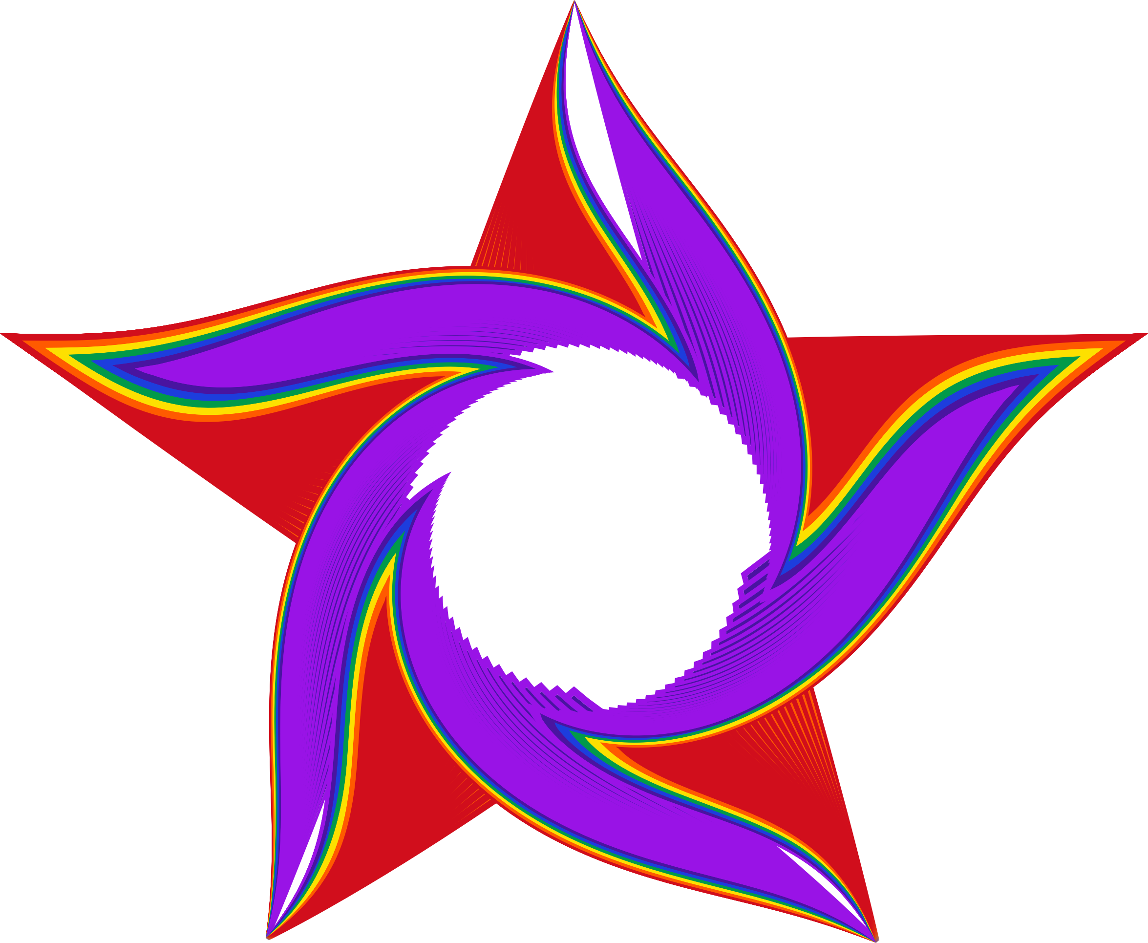 Star rainbow clipart free Clipart - Twisted Rainbow Star free
