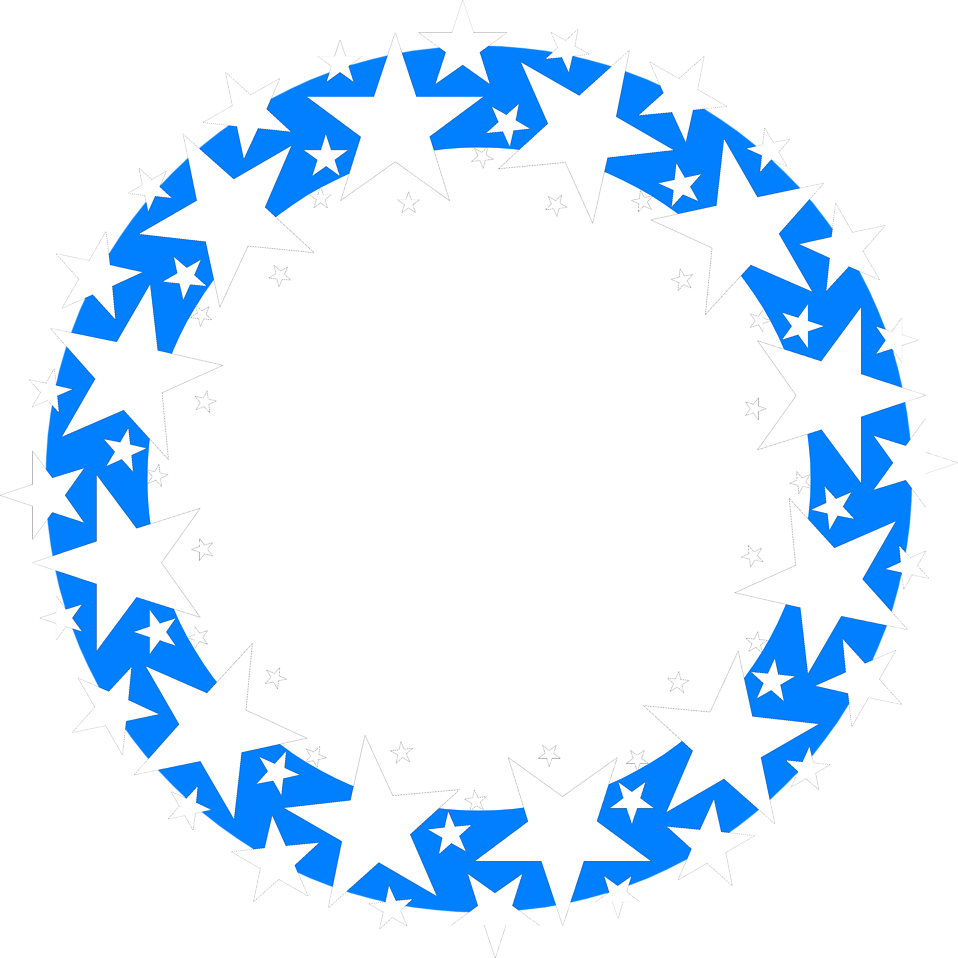 Star border clipart black and white png royalty free library Border Blue | Free Stock Photo | Illustration of a blue circle with ... png royalty free library
