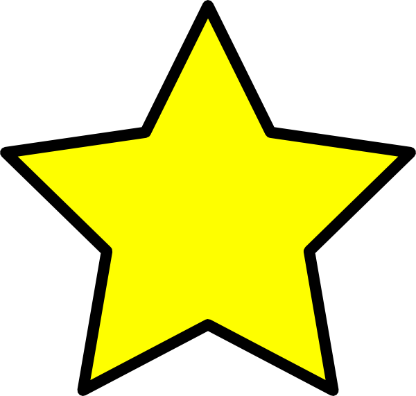 Small star clipart image freeuse stock Yellow Star Clip Art at Clker.com - vector clip art online, royalty ... image freeuse stock