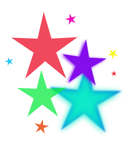 Star spray clipart picture royalty free library Colorful Stars Clipart | Clipart Panda - Free Clipart Images picture royalty free library