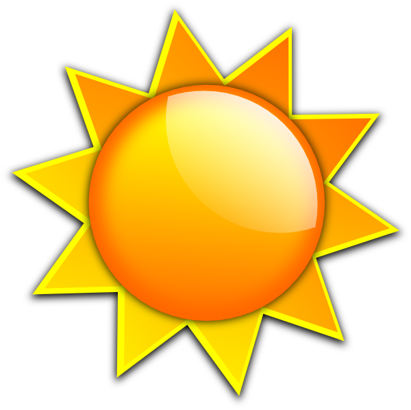 Parts of the sun clipart png library library sun drawings | Sun 2 clip art - vector clip art online, royalty free ... png library library