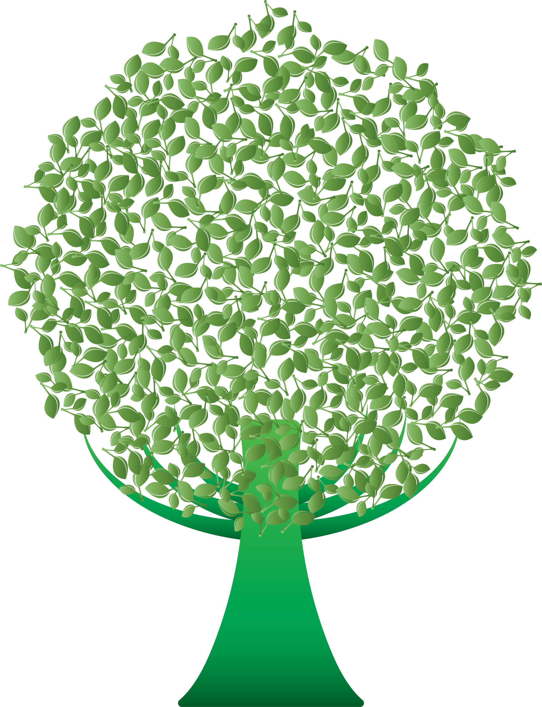 Abstract tree clipart image transparent Clipart - Green Abstract Tree image transparent