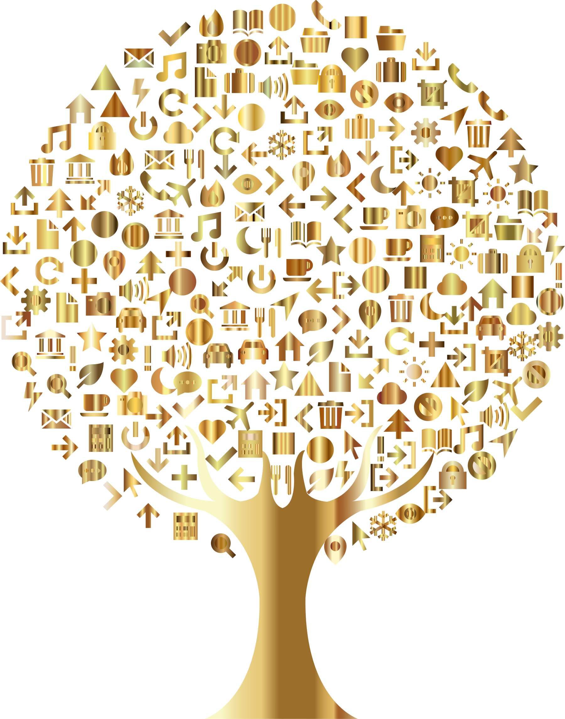 Abstract tree clipart picture freeuse stock Abstract Icons Tree Gold Icons PNG - Free PNG and Icons Downloads picture freeuse stock