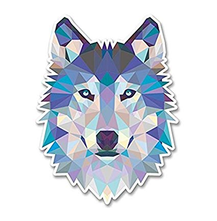 Abstract wolf face clipart