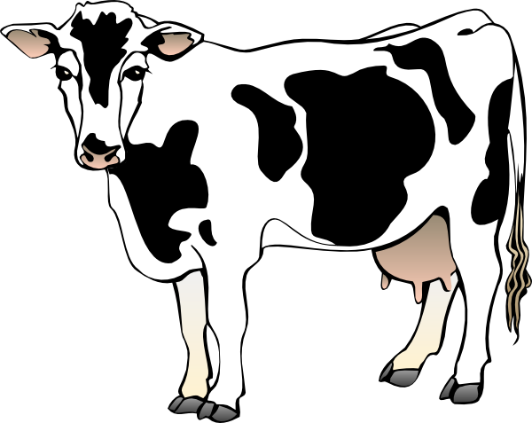 Clipart dairy cow banner free download cow clipart | Cow 11 clip art - vector clip art online, royalty free ... banner free download
