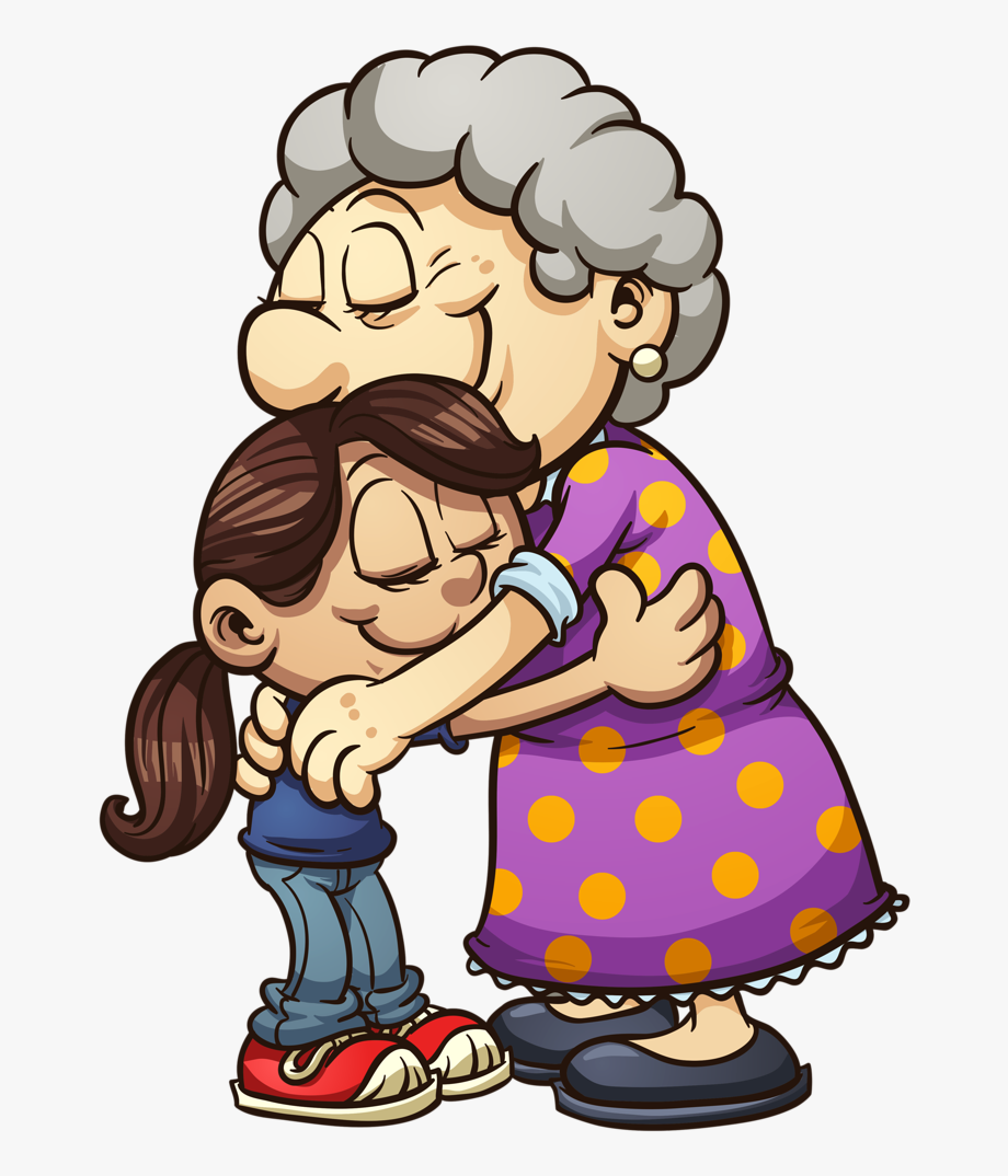 Abuela clipart freeuse library Vovô & Vovó - Nieta Y Abuela Dibujo, Cliparts & Cartoons - Jing.fm freeuse library