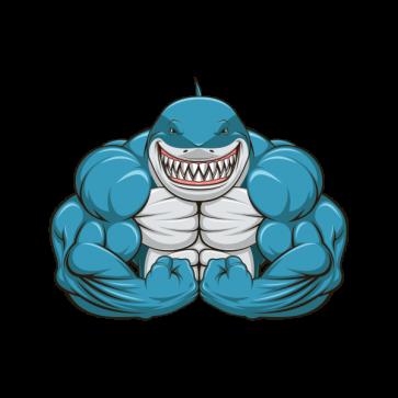 Abuelo shark clipart image transparent download Fitness Bodybuilder Shark 21822 | Bodybuilding in 2019 | Shark, Gym ... image transparent download