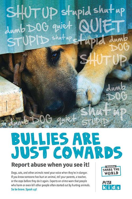 Teach compassion with teachkind. Abused dog clipart black and white peta
