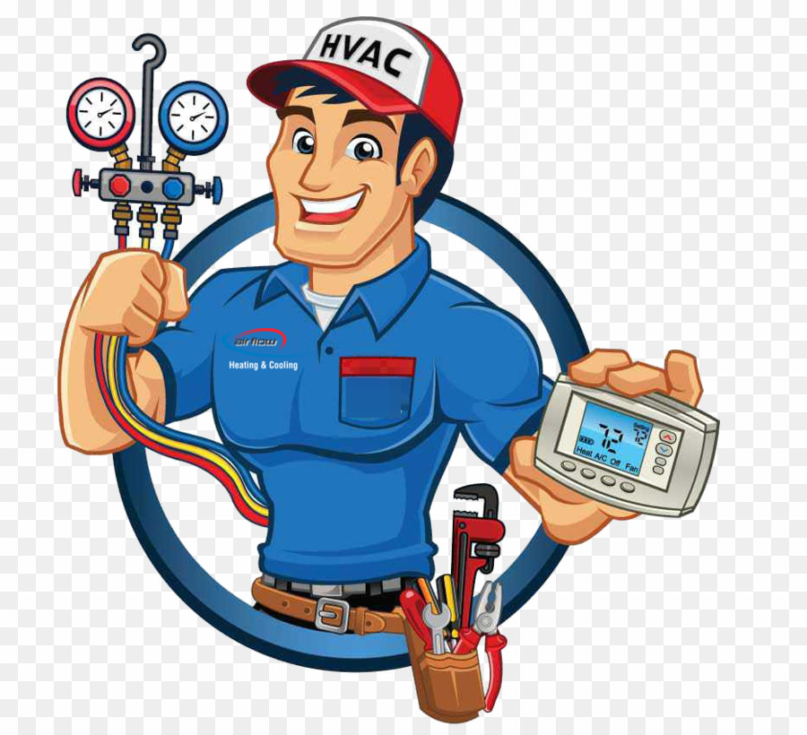 Air Conditioning Technician PNG Heating, Ventilation, And Air ... picture black and white