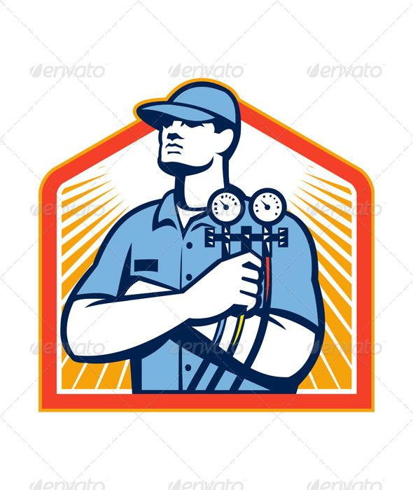 Ac gaugagees clipart vector free stock Pin by Bert Hen on Vectors | Refrigeration, air conditioning ... vector free stock