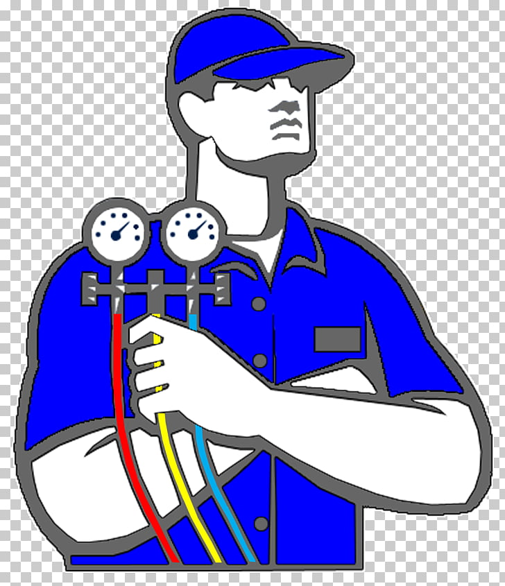 Ac gaugagees clipart picture library download Air conditioning Technician HVAC Home improvement , icicles, man ... picture library download