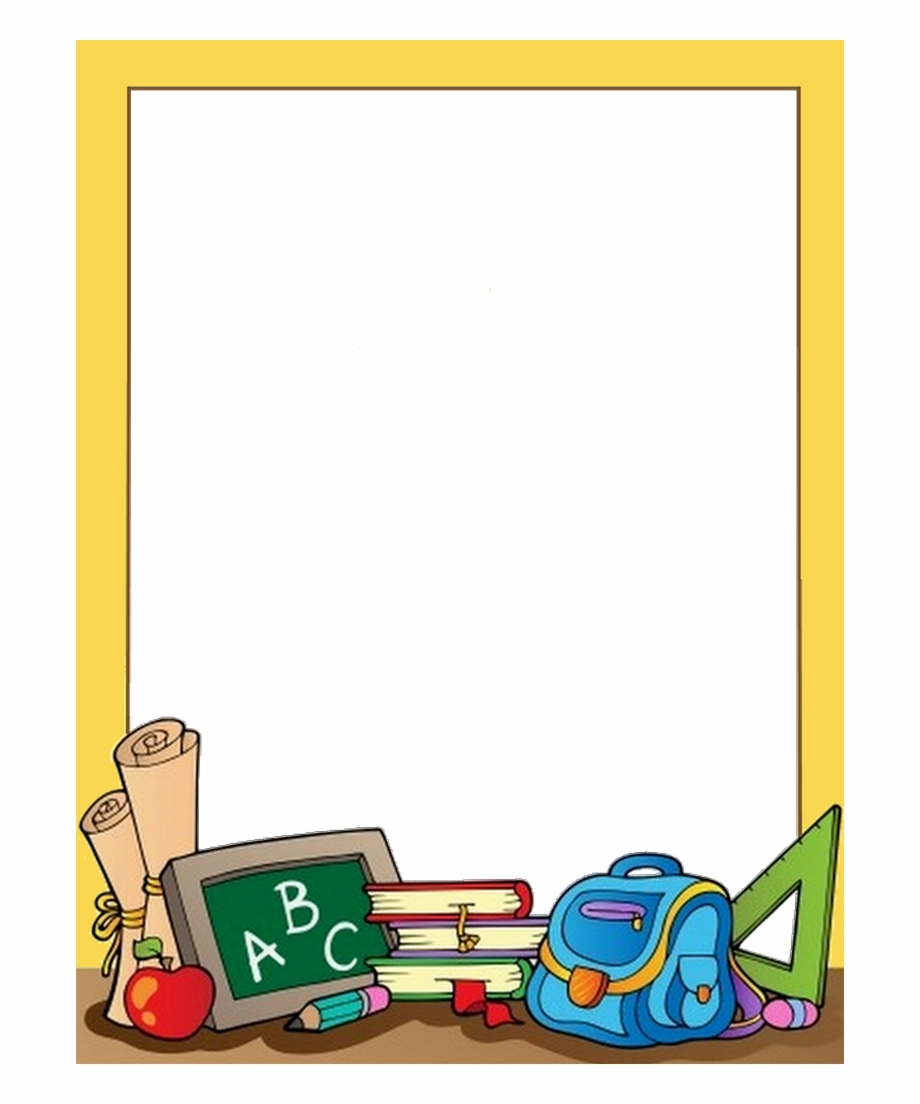 Academic borders clipart svg library download School Border, School Clipart, 1st Day Of School, Paper - School ... svg library download