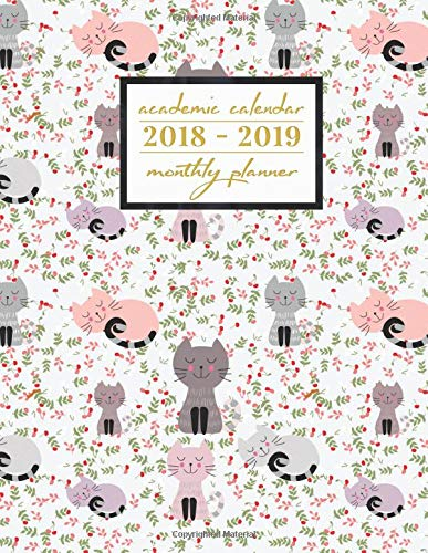 Academic calendar 2018 2019 clipart jpg library download Academic Calendar 2018-2019 Monthly Planner: Silly Cats Aug 2018 ... jpg library download