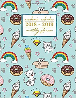 Academic calendar 2018 2019 clipart banner free Academic Calendar 2018-2019 Monthly Planner: Ice Cream Aug 2018 ... banner free