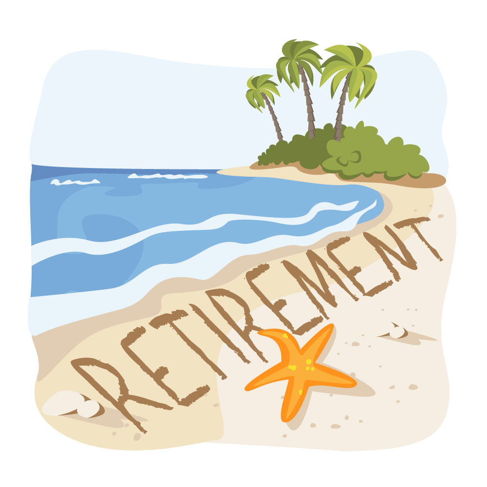 Academic retirement clipart vector black and white Retirement Clipart for printable – Free Clipart Images vector black and white