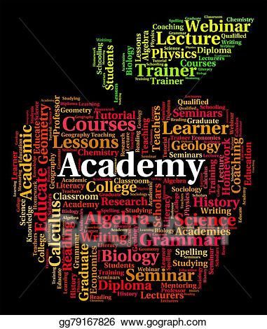 Stock Illustration - Academy word shows polytechnics school and ... banner transparent download
