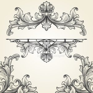 Acanthus clipart png library library French Acanthus Engraving Set premium clipart - ClipartLogo.com png library library
