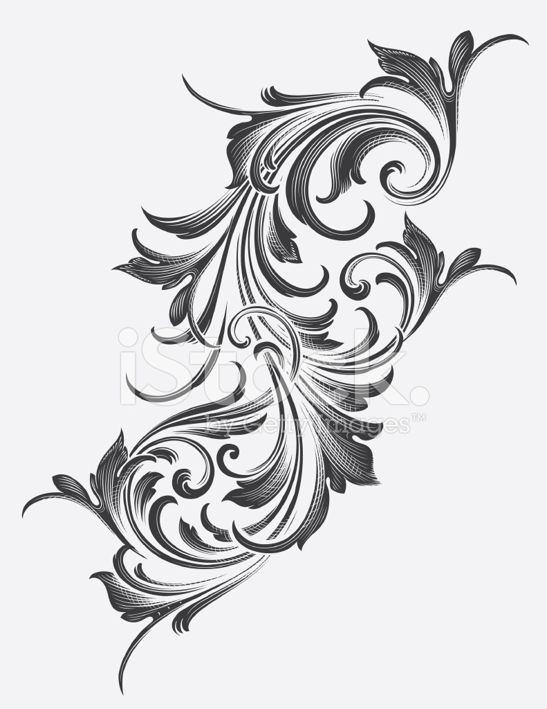 Acanthus clipart clip stock Victorian Acanthus Scrollwork Stock Vector - FreeImages.com clip stock