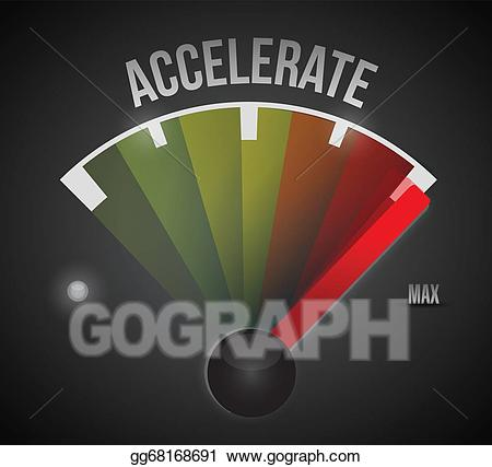 Accelerating clipart clip black and white Clip Art Vector - Accelerate speedometer illustration design. Stock ... clip black and white