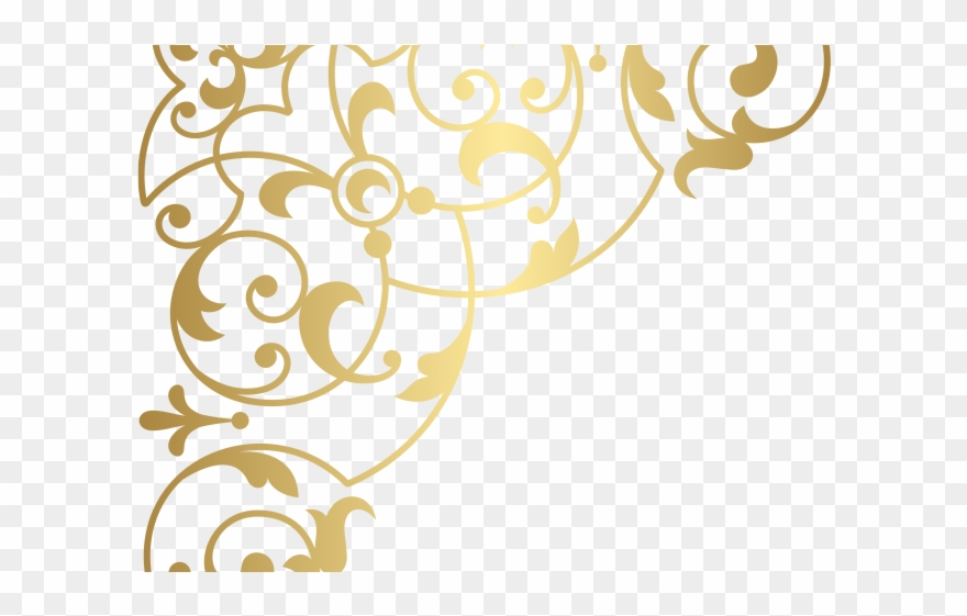 Decorative clipart accent svg black and white stock Curve Clipart Decorative Corner Accent - Png Download (#3106574 ... svg black and white stock