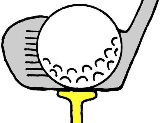 Golf clipart black and white free