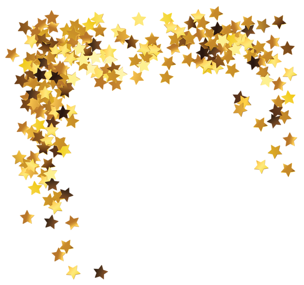 Gold star line clipart banner free stock Gold Stars Decoration PNG Clipart Picture | Transparent | Pinterest ... banner free stock