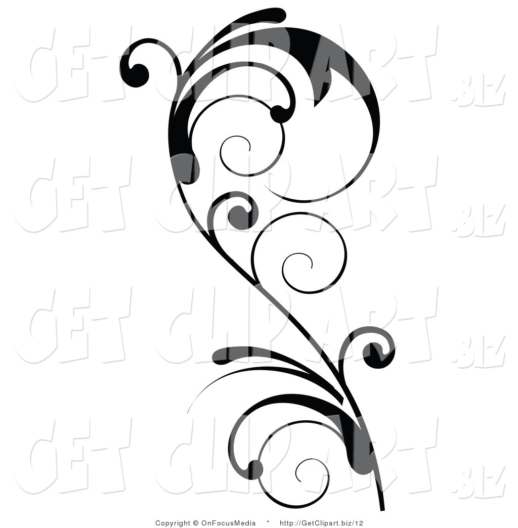 Vines and scrolls clipart black and white download 17 Accent Designs Clip Art Images - Decorative Line Clip Art ... black and white download