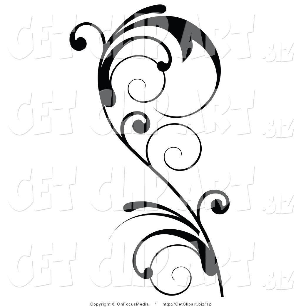 17 Accent Designs Clip Art Images - Decorative Line Clip Art ... picture black and white