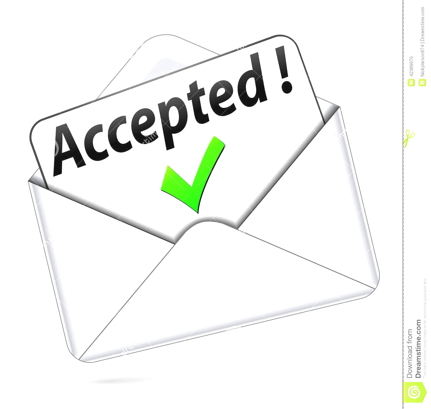 Acception clipart freeuse stock Acceptance Letter Clipart 0 - contesting wiki freeuse stock