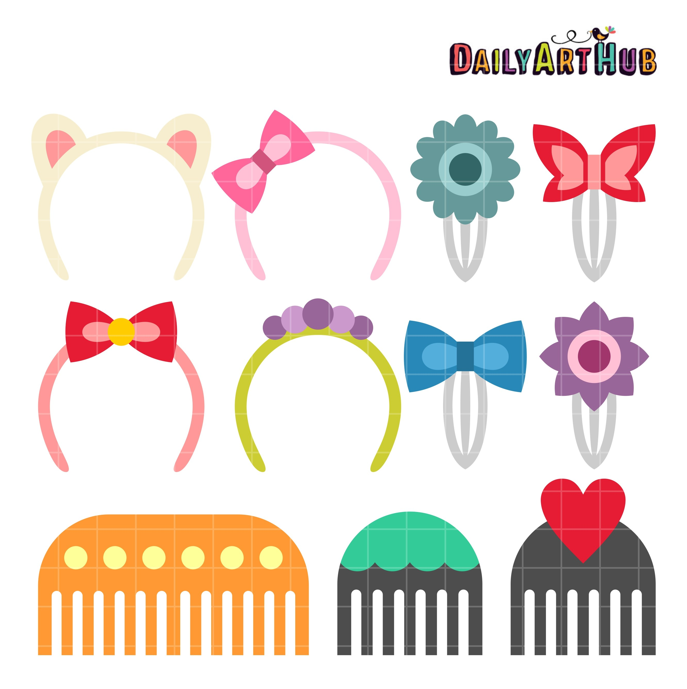 Accesories clipart clip library Hair accessories clipart 9 » Clipart Portal clip library
