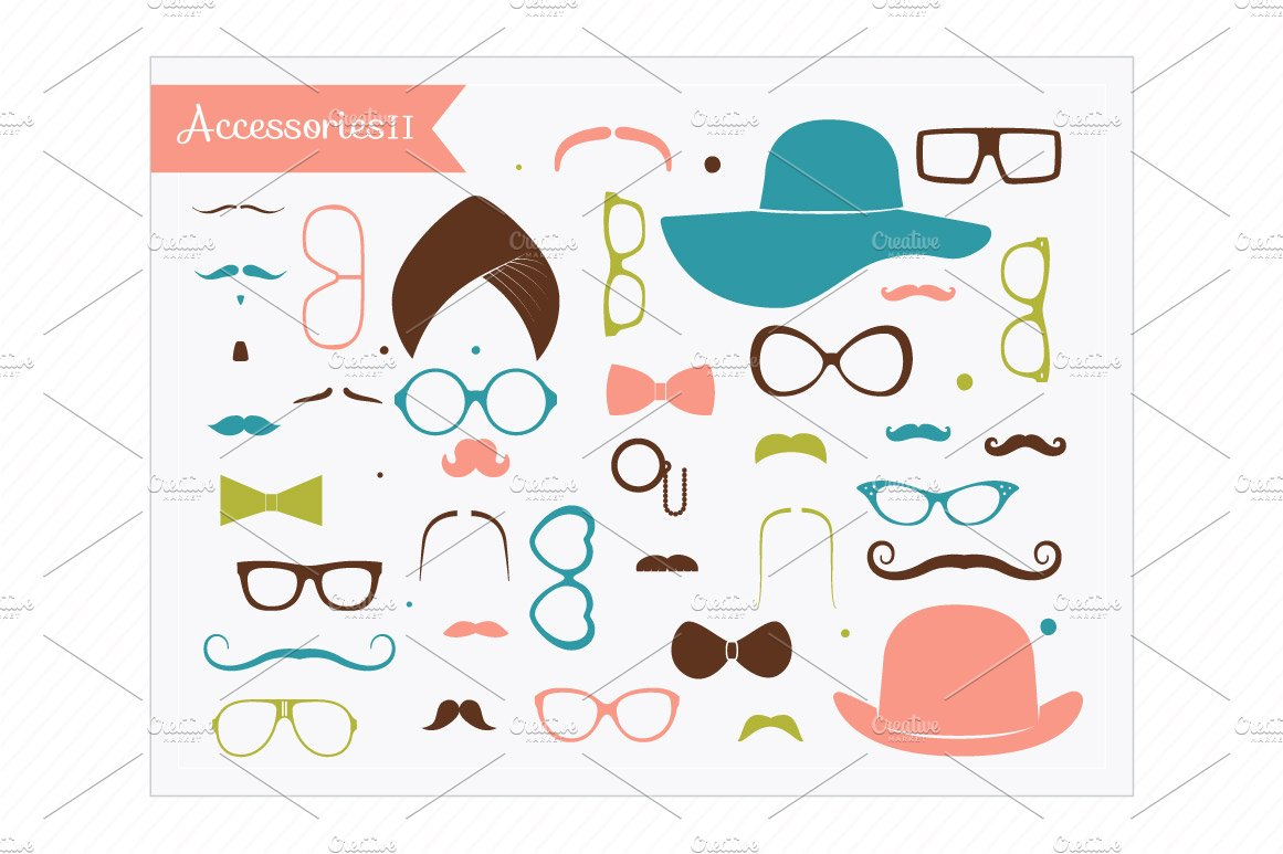 Accesories clipart clipart black and white Clip Art-Accessories II clipart black and white
