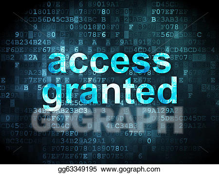 Access granted clipart jpg transparent stock Drawing - Information concept: access granted on digital background ... jpg transparent stock