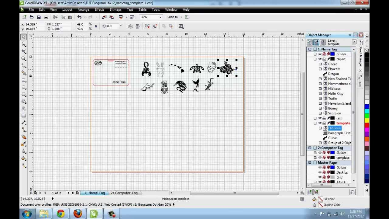Corel draw x6 clipart library