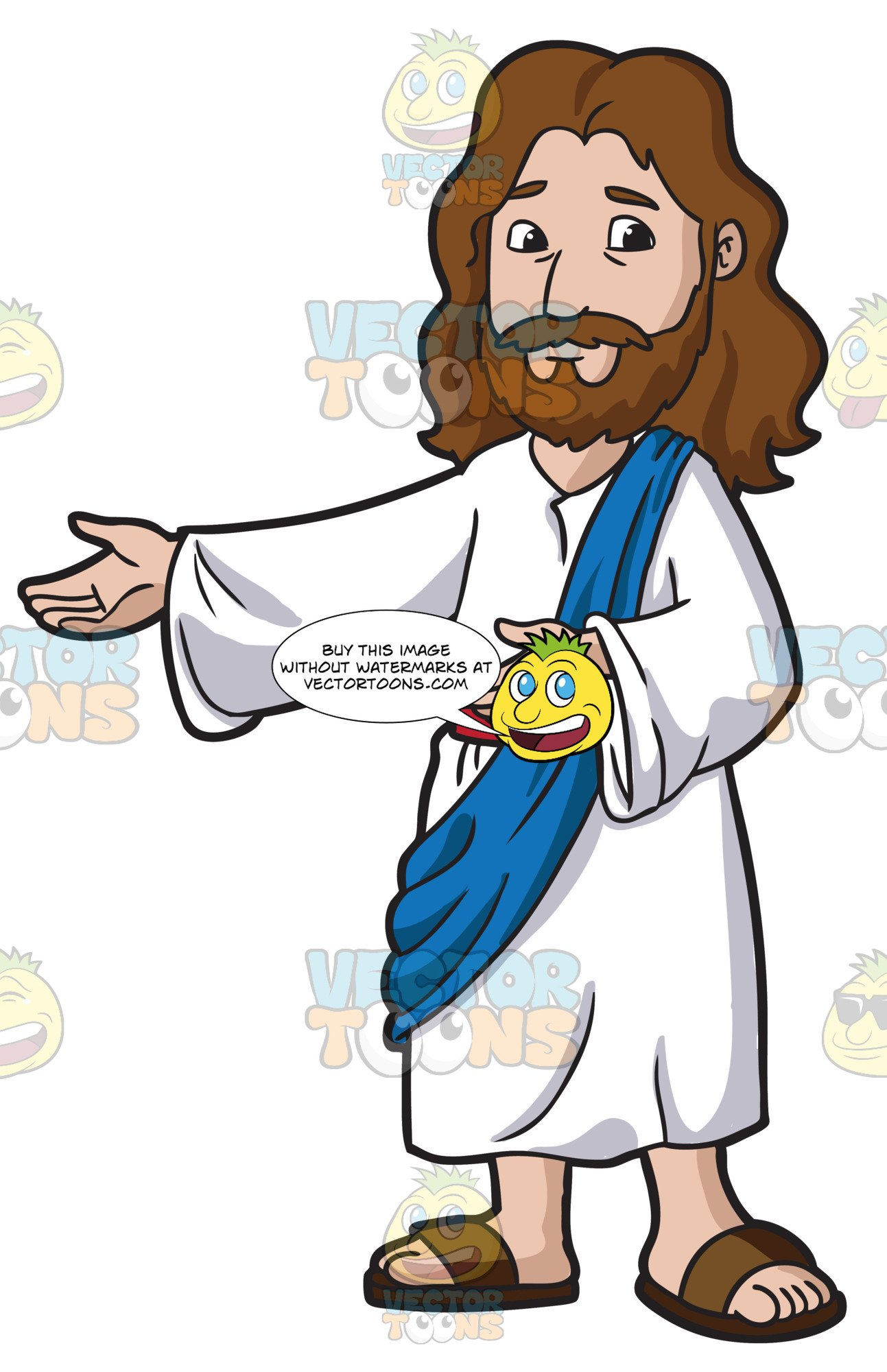 Jesus Christ Being Happy And Accommodating jpg library stock