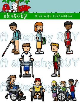 Accommodations for disabilitre clipart picture stock Kids with Disabilities Clipart | SPECIAL EDUCATION RESOURCES ... picture stock