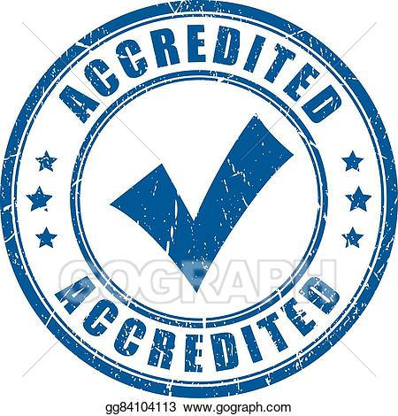 Accreditation clipart jpg royalty free stock EPS Illustration - Accredited rubber stamp. Vector Clipart ... jpg royalty free stock