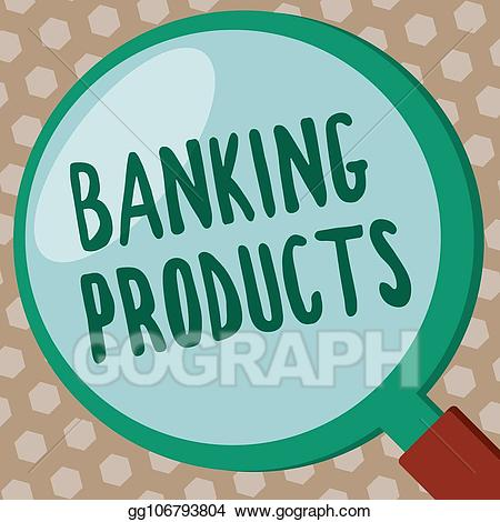 Accumulate clipart graphic Stock Illustration - Word writing text banking products. business ... graphic