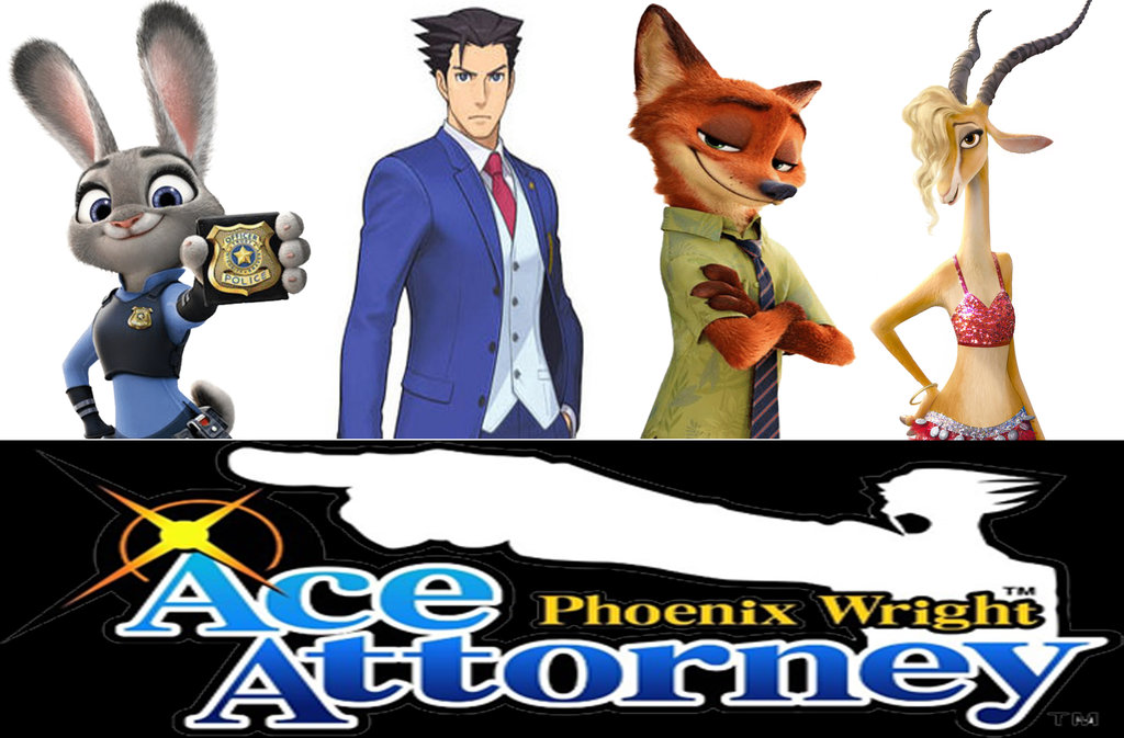 Ace attorney clipart jpg royalty free stock Phoenix Wright: Ace Attorney: Zootopia Defense by ... jpg royalty free stock