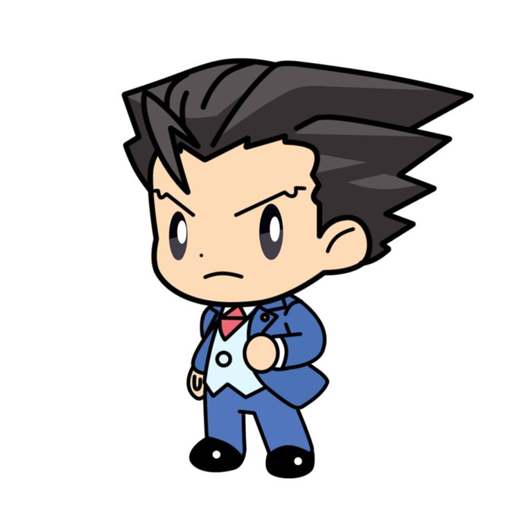 17 Best images about Ace attorney :3 on Pinterest | Chibi ... vector freeuse download
