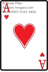Ace card clip art graphic royalty free download Ace Of Hearts Playing Card Royalty-Free Clip Art Image graphic royalty free download
